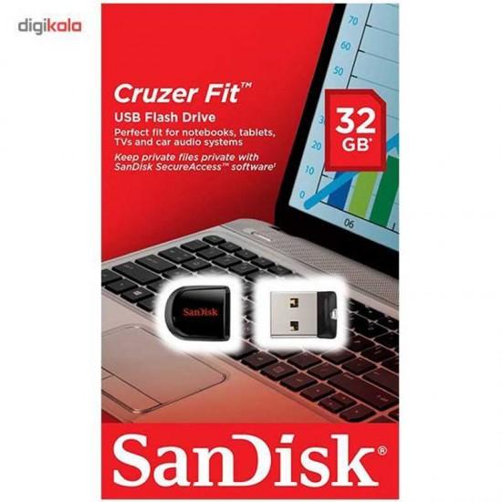 فلش مموری سن دیسک مدل Cruzer Fit CZ33 ظرفیت 16 گیگابایت