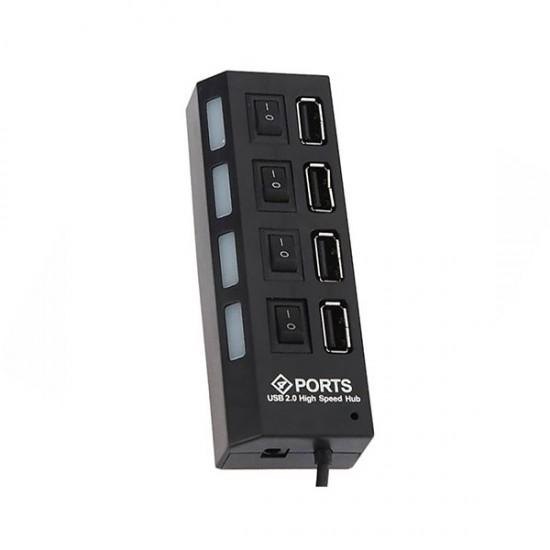 هاب 4 پورت USB 2.0 پورتز مدل HI-SPEED