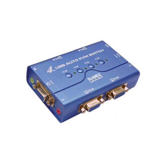 سوییچ VGA KVM چهار پورت USB کی نت پلاس مدل KPU624