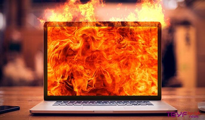 تصویر از چطور مانع از داغ شدن لپتاپ شویم؟